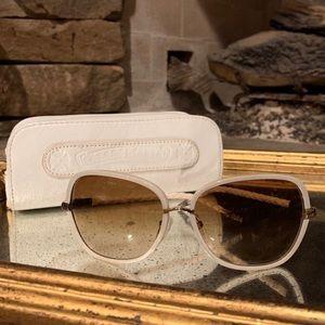 Chrome Hearts White frame sunglasses like new